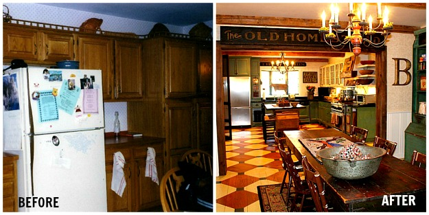 Renita's kitchen makeover before and after
