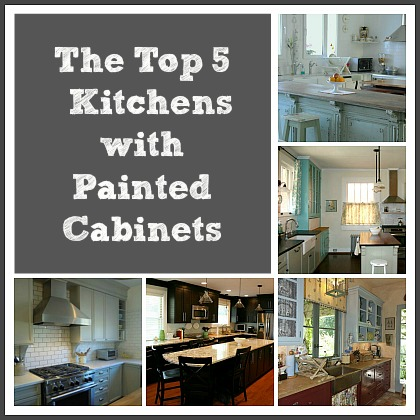 Top 5 Kitchens with Painted Cabinets-collage