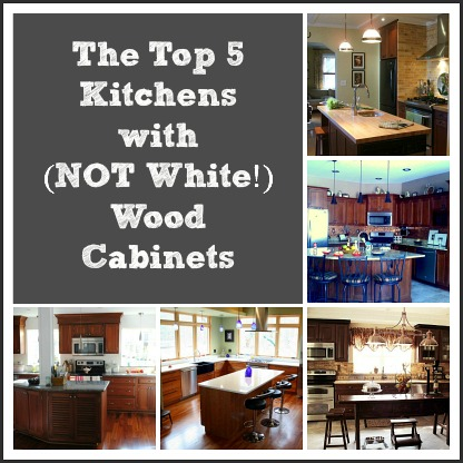 Top 5 Kitchens with Wood Cabinets collage