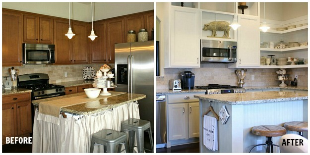 Tricia's kitchen before and after