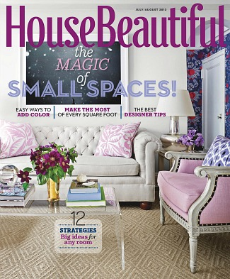 House Beautiful magazine cover July-Aug 2013