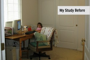 My Study after we moved in 10 years ago