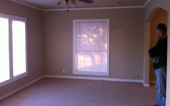 Small Living Room Before-Blissful Bee blog 2