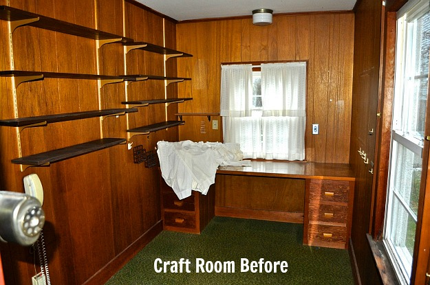 craft room before Before & After: Turning a Small Ranch Into a 2 Story House