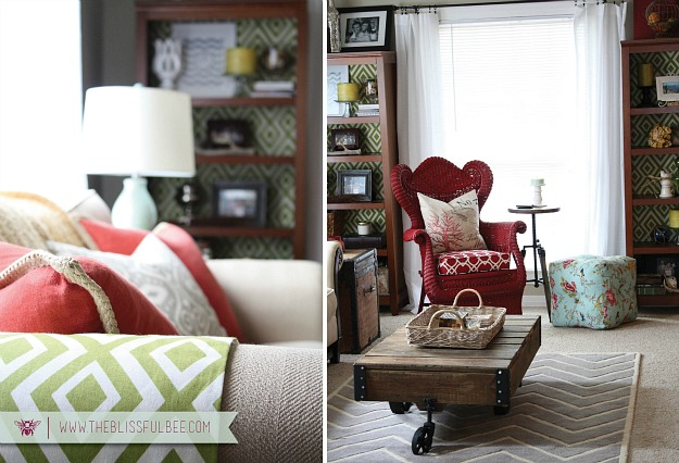decorating a small living room-Blissful Bee 2