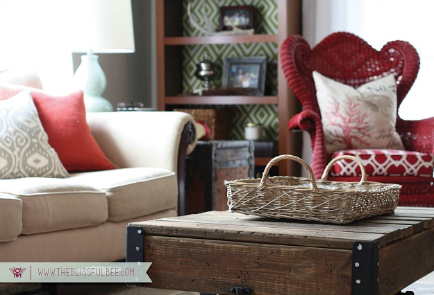 decorating a small living room-Blissful Bee