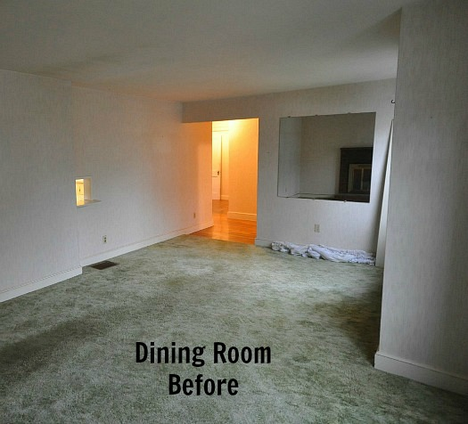 dining room area before remodel Before & After: Turning a Small Ranch Into a 2 Story House