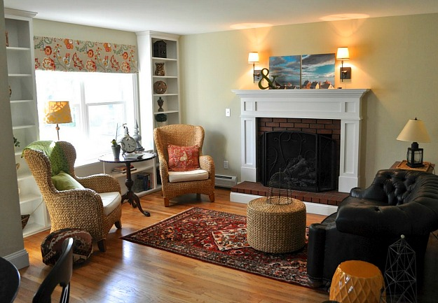 living room after Before & After: Turning a Small Ranch Into a 2 Story House
