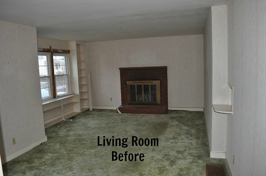 living room before Before & After: Turning a Small Ranch Into a 2 Story House
