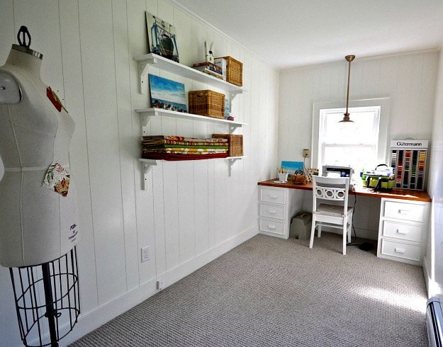 new craft sewing room Before & After: Turning a Small Ranch Into a 2 Story House
