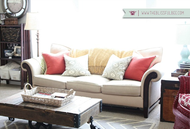 small living room after-Blissful Bee blog 3