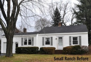 small ranch before remodel turned it into two story home