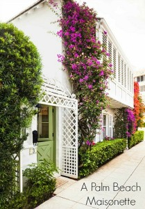 front exterior of Palm Beach Maisonette with green door