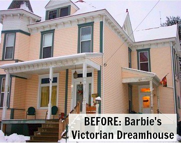 Barbie's Pink Victorian Dreamhouse Before