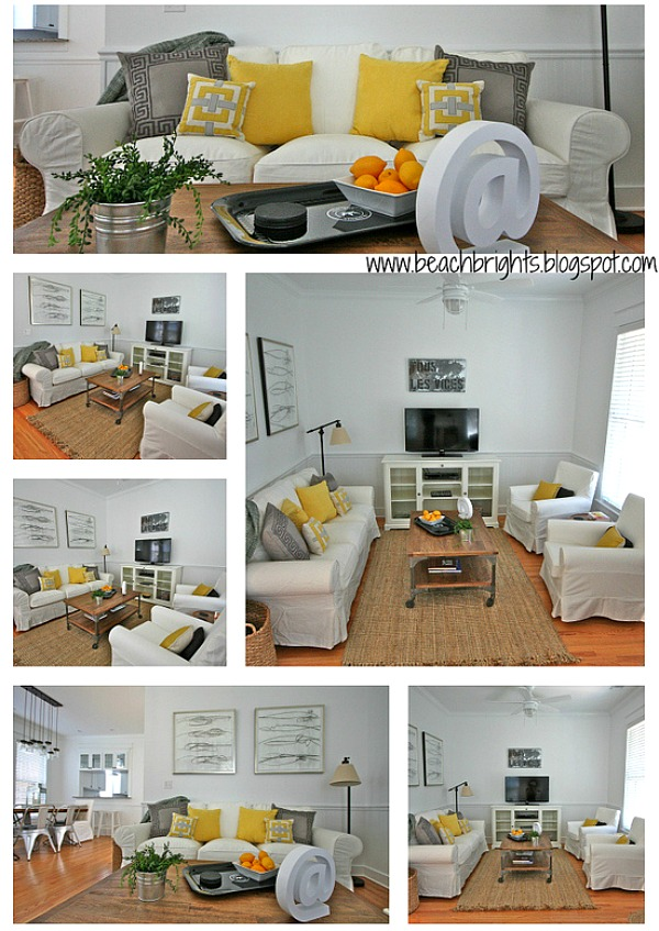 Beach Brights blog beachy living room AFTER