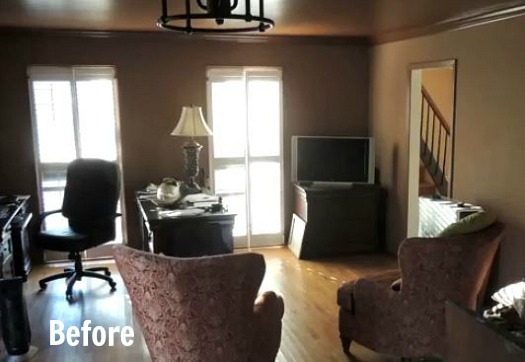 Eric Ross remodel-living room before