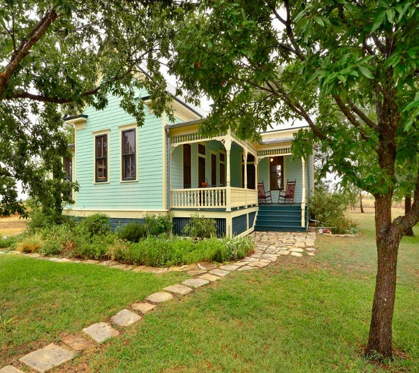 Painted Victorian Farmhouse in Texas