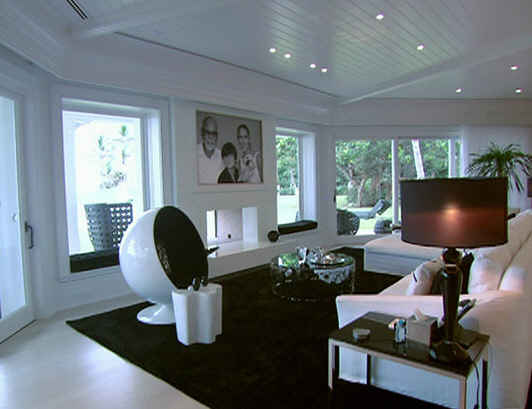 Celine Dion's family room