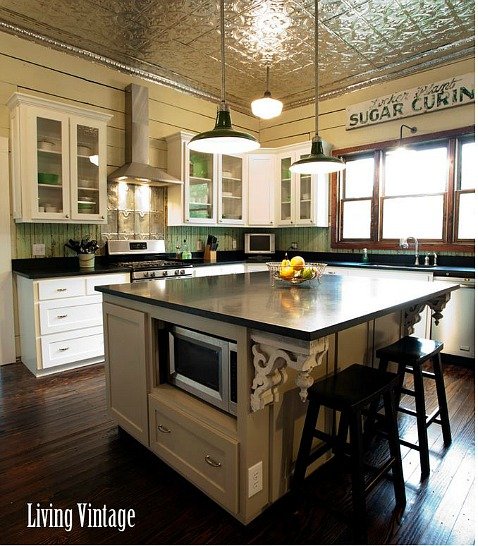 Vintage Kitchen Makeover: Before & After: Kim Creates A New Vintage Kitchen In Texas