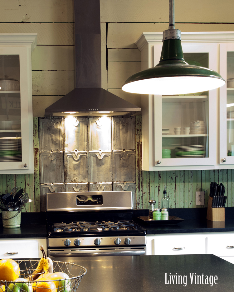 kitchen after remodel with stainless vent hood