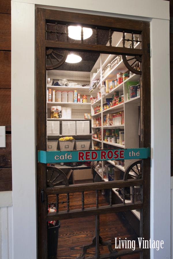 screen door used as pantry door in kitchen