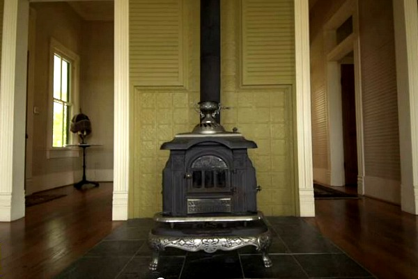 Texas farmhouse woodburning stove