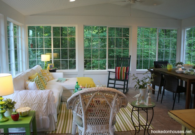 Hooked on Houses Julia's sunroom summer