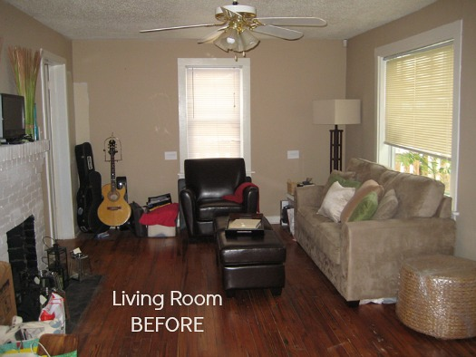 Before after decorating a 1950s bungalow hooked on houses for Living room makeovers