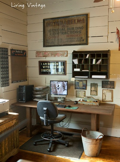 Living-Vintage home office