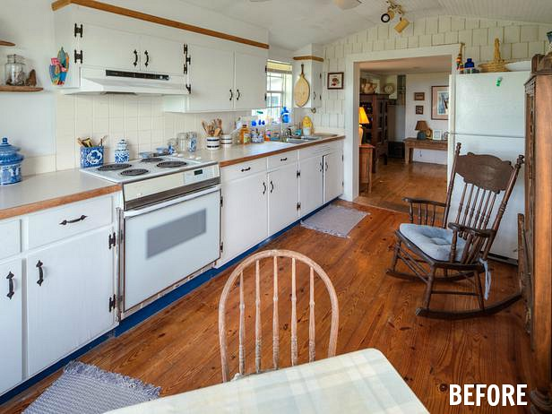 coastal cottage kitchen before