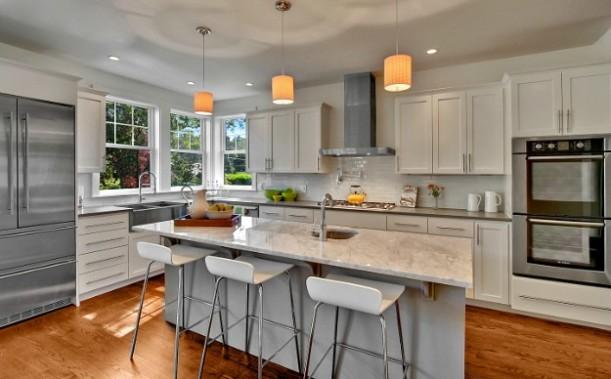newly renovated kitchen Craftsman bungalow Seattle