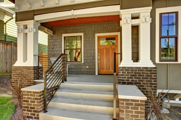 renovated craftsman bungalow seattle porch