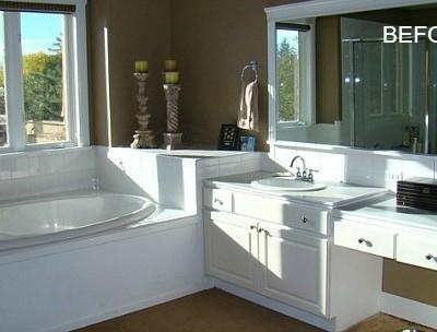 owner's suite bathroom before remodel
