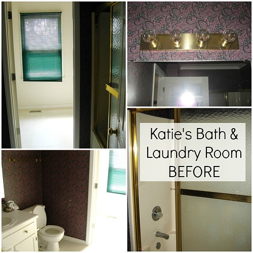Katie's Bathroom and Laundry Room BEFORE