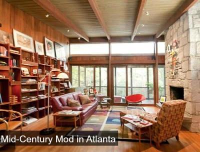 Midcentury Modern ranch for sale in Atlanta Georgia