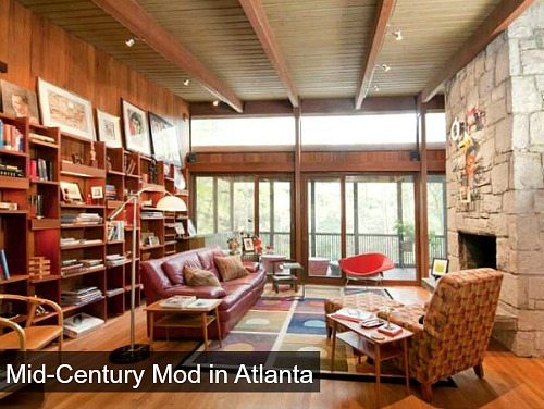 Midcentury Modern ranch for sale in Atlanta Georgia