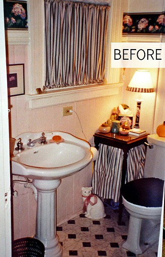 Sharon's Edwardian bathroom before 2