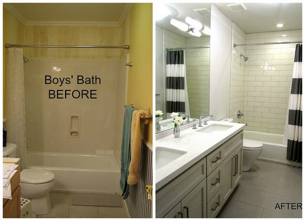5 more bathroom makeovers to inspire you hooked on houses for Before and after small bathroom makeovers