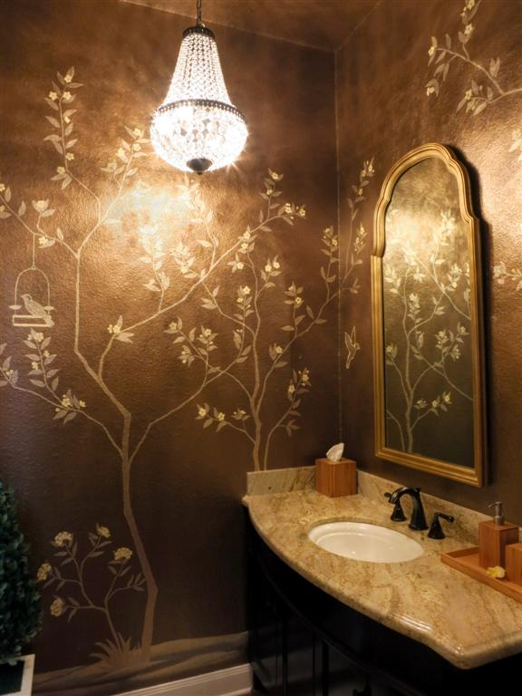 Painting A Plain Powder Room To Create Quot Chinoiserie Chic