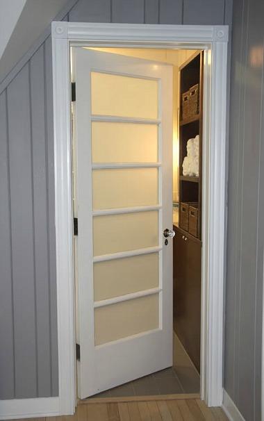 door to Erin's new bathroom