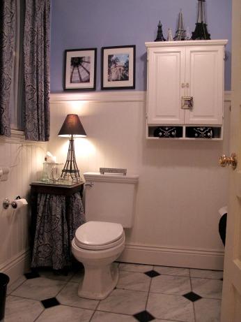 Sharon's Paris-themed bathroom makeover 2