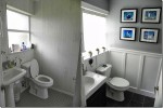 Renato's Bathroom Before and After Wainscoting