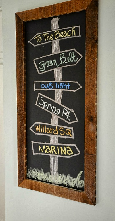 Blackboard in SoPo Cottage New Englander