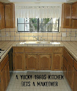 Carolyn's yucky 1980s kitchen before