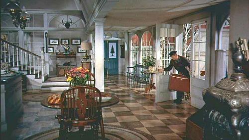 Christmas movie mystery entry hall