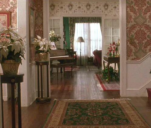 Christmas movie mystery house foyer