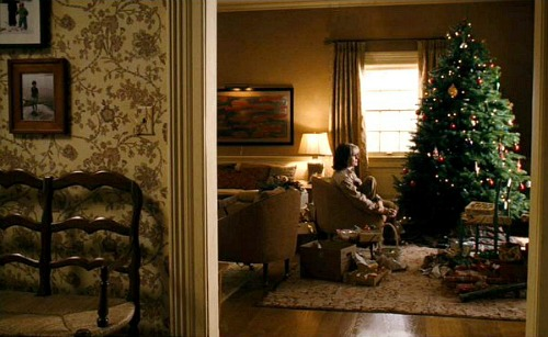 Christmas movie mystery living room with tree 2