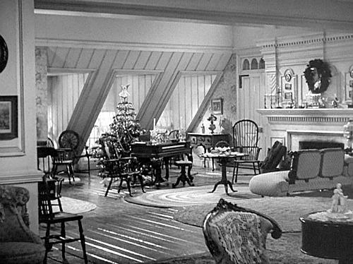 Christmas movie mystery living room