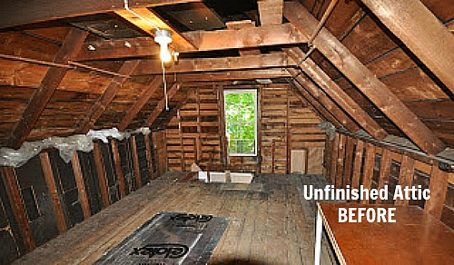 small attic remodel before and after - Fixing Up an Old New Englander in Maine Hooked on Houses