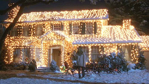 Griswold house Christmas Vacation movie in lights 500